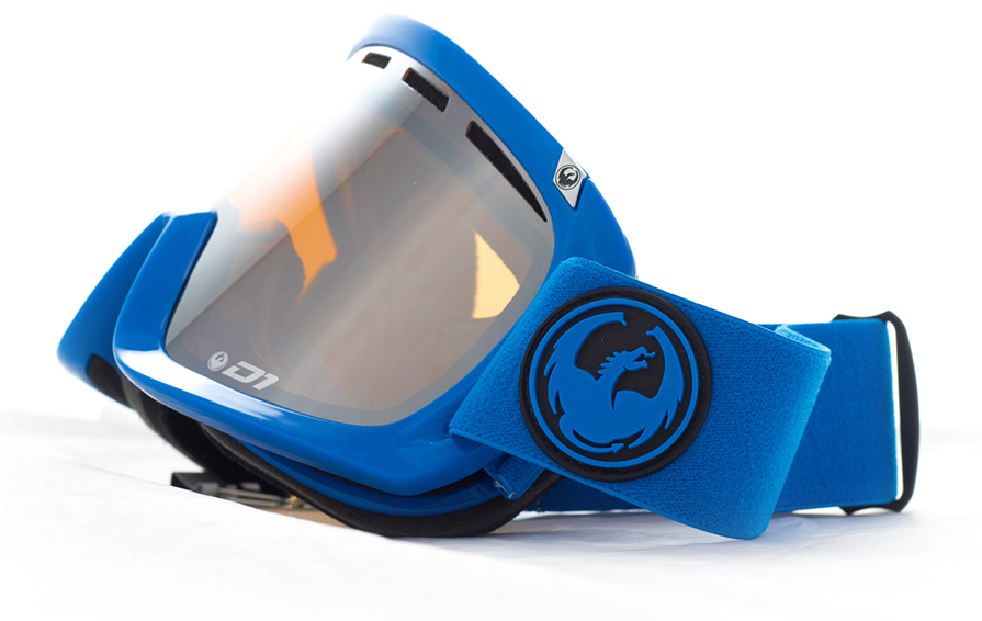 Dragon D1 Azure Ion Goggles Front view in listing close up