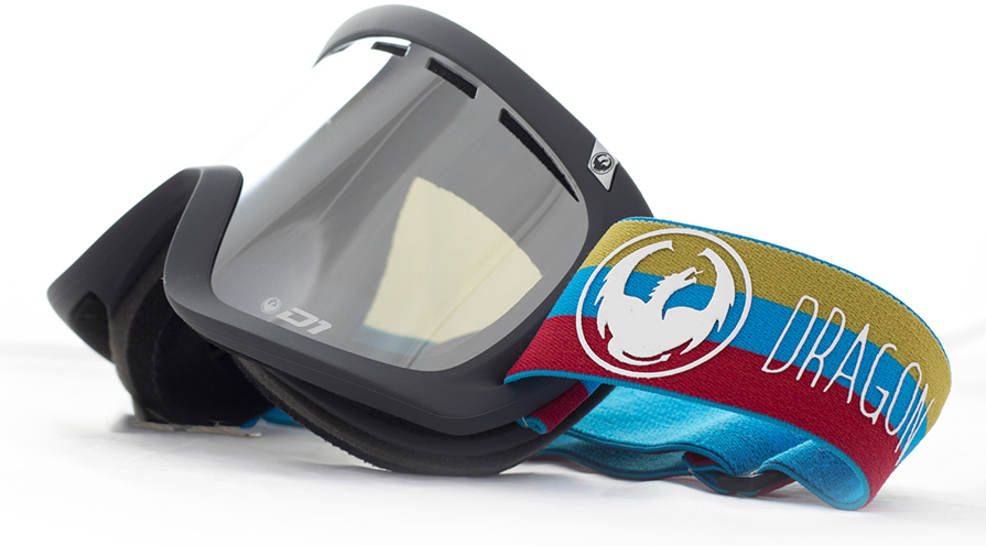 Dragon D1 Layer Mirror Ion Snowboard Goggles Side view in listing close up