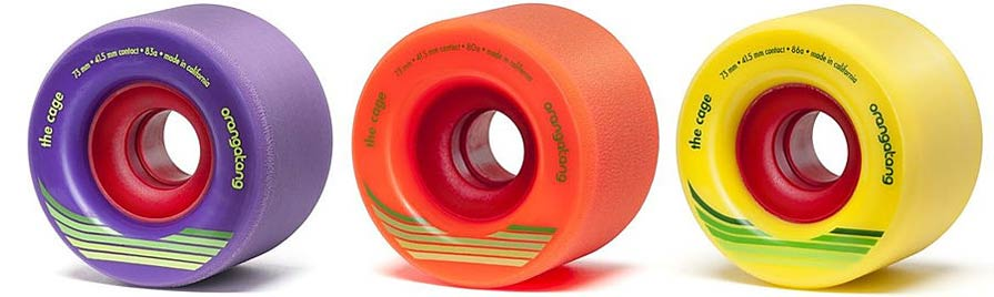 orangatang longboard wheel the cage freeride slide