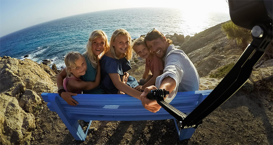 GoPro 3 Way Mount family photo