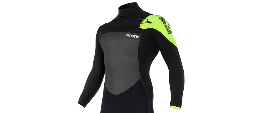 Mystic Legend 5/3 Front Zip Quick Dry Wetsuit in listing close up
