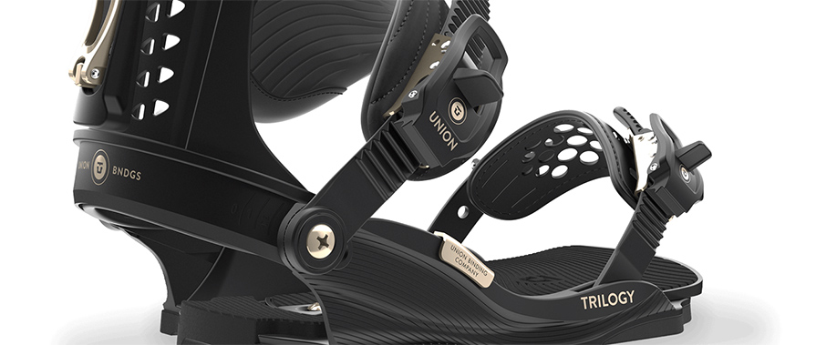 union trilogy womens 2018 snowboard bindings in black in listing