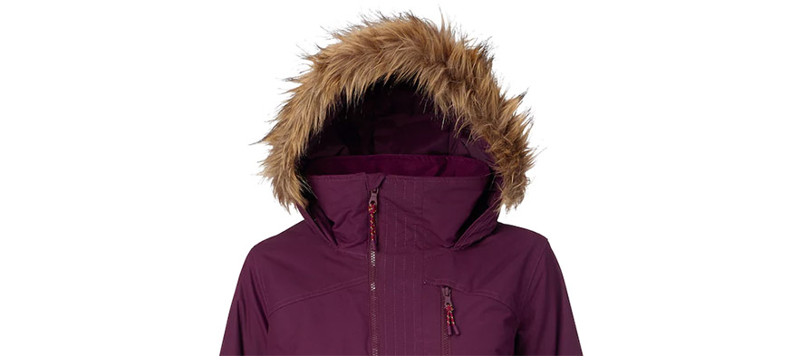 Burton Womens Hazel Jacket in Starling Wax in listing close up