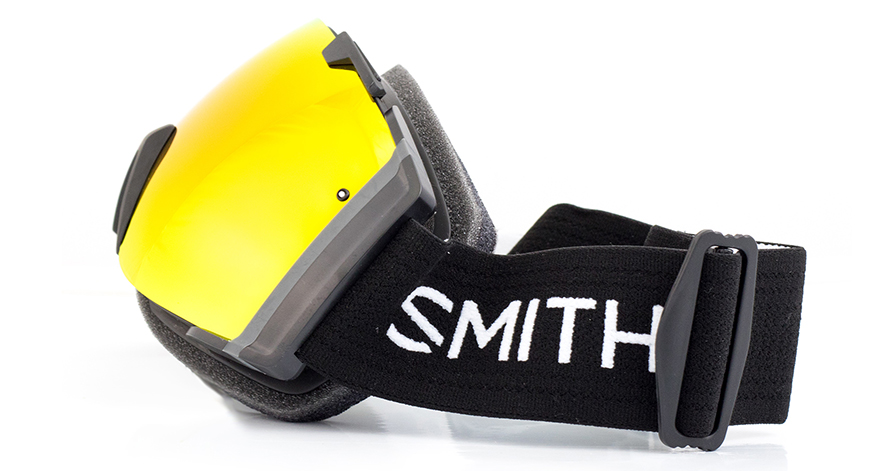 Smith I/O Goggles Black Red SolX in listing side view