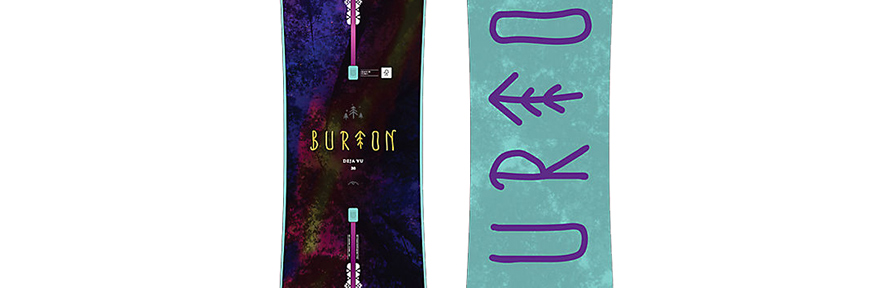 Burton Deja Vu Flying V Womens Snowboard 2017
