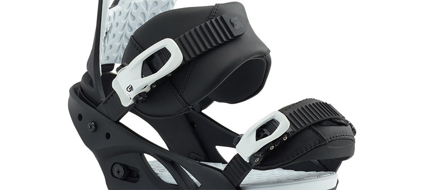 Burton	Scribe Re:Flex Squeeky Black Womens Snowboard Binding close up