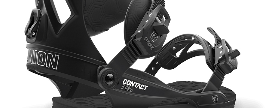 Union Contact Pro Snowboard Binding in Black in listing close up