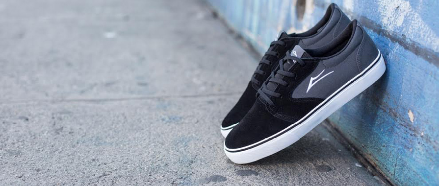 Lakai Fura in Black Suede Detail