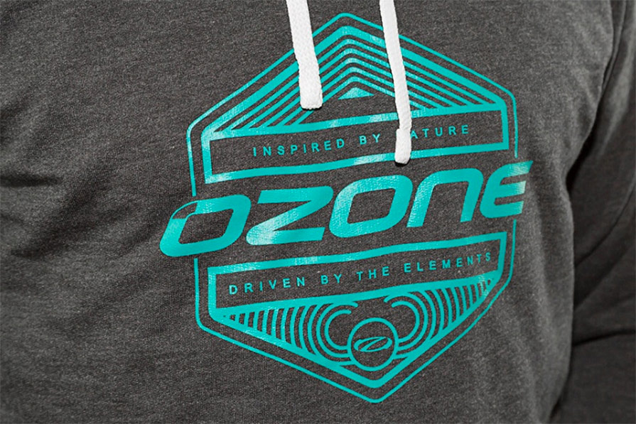 Ozone Inspired Hoody Grey Print Detail
