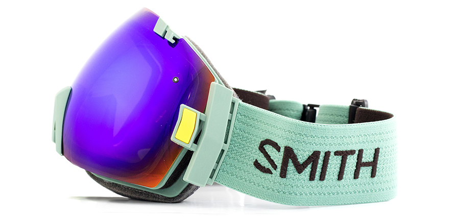 Smith I/OX Ranger Scout Green SolX Snowboard Goggle in listing on white