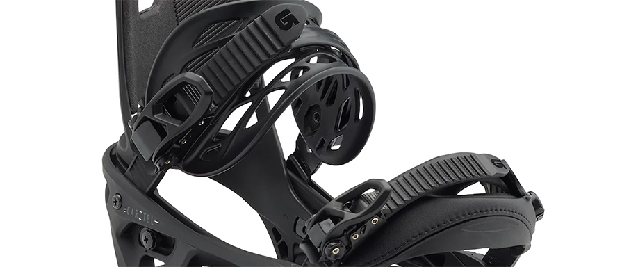Burton Cartel EST 2018 Snowboard Bindings in matte black listing close up