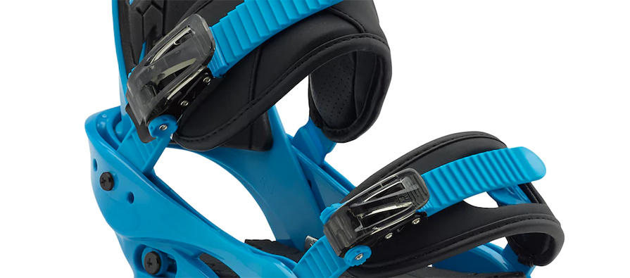Burton mission smalls junior snowboard bindings in blue boy in listing