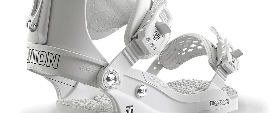 Union Force 2018 Snowboard Binding in White in listing