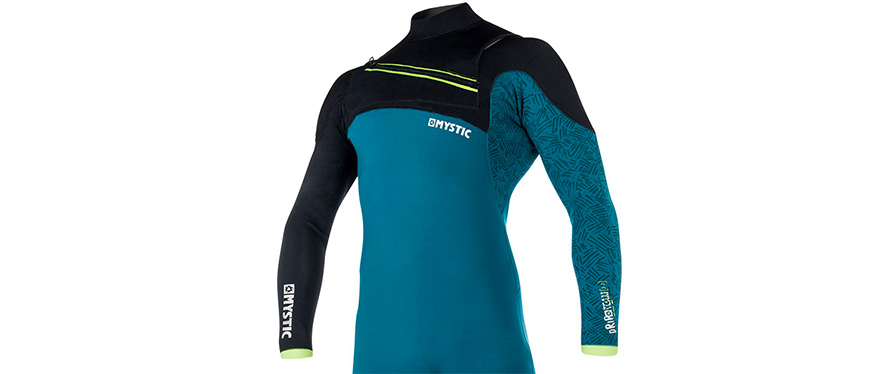 Mystic Drip 5/4mm FZ Winter Wetsuit in Teal in listing close up