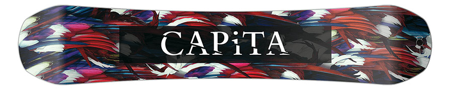 Capita Birds of a Feather Womens Snowboard base graphic in listing