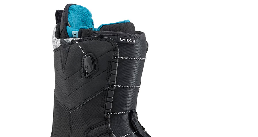 Burton Limelight Womens Snowboard Boots in Black in listing close up