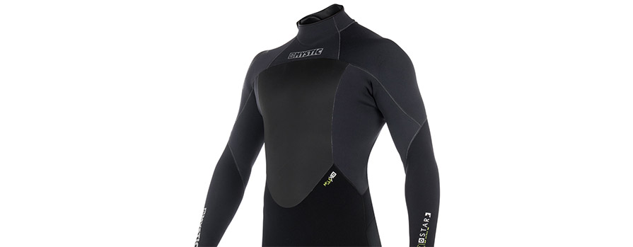 Mystic Star 3/2 Mens Fullsuit Summer Wetsuit Black in listing close up