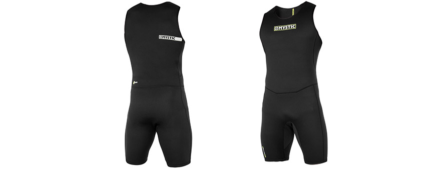 Mystic MVMNT Neoprene Short John  front and back in listing close up