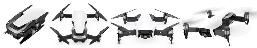 DJI Mavic Air Drone Unfolding and flying in listing