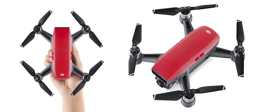 DJI Spark Red Drone Fly More Combo Lave Red in listing close ups