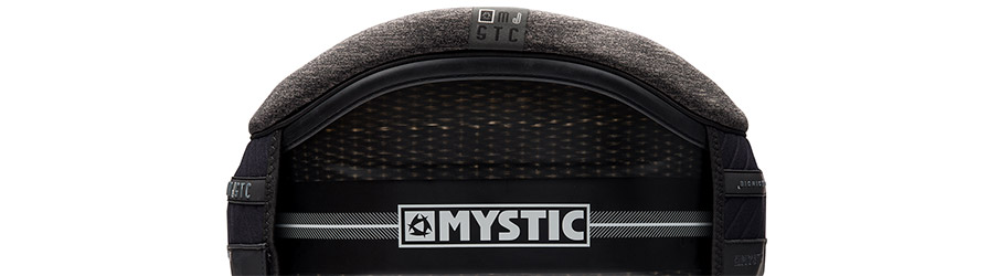 Mystic Majestic Black Hardshell Kitesurf Waist Harness back in listing close up