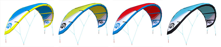 Liquid Force P1 v1 Kitesurfing Kite colour range