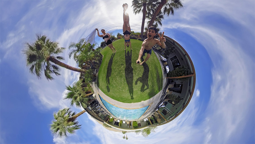 GoPro Fusion 360 Action Sports Camera little planet adventure holiday