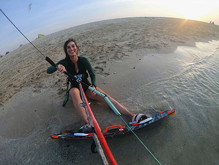 Kitesurfing with GoPro Hero7 Camera