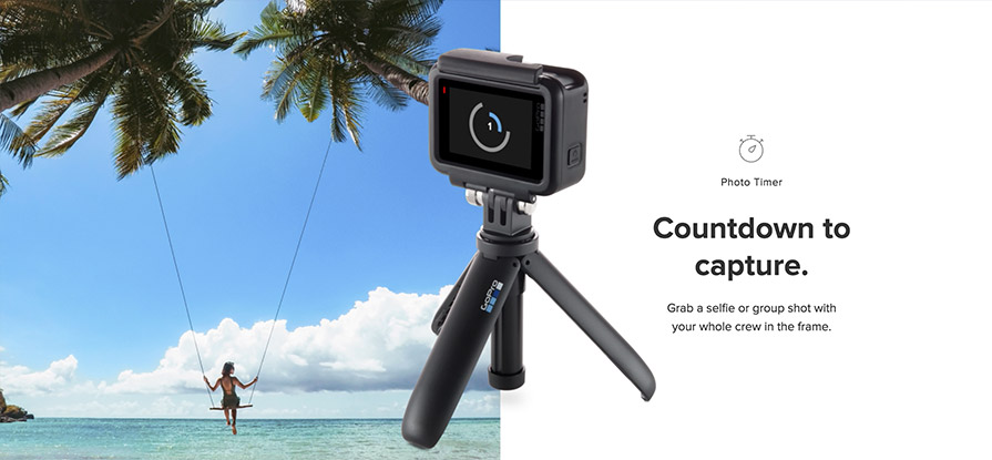 GoPro Hero 7 White countdown timer