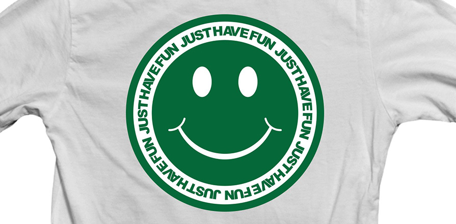 Just Have Fun JHF Have A Nice Day S/S T-Shirt White