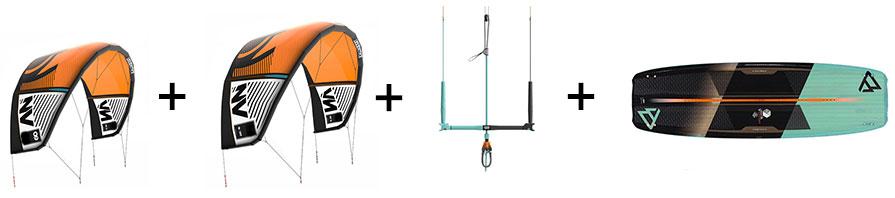 Liquid Force NV V8 and Brunotti Dimension Kiteboard Kitesurfing Package 1