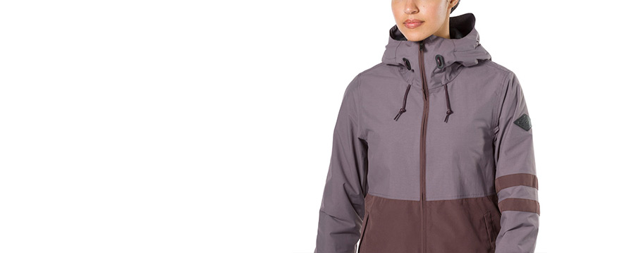 Dakine Juniper Shark Amethyst Womens Snowboard Jacket close up