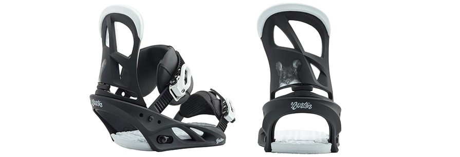 Burton Scribe Squeeky snowboard binding mouse in listing close up for snowboard discount package builder