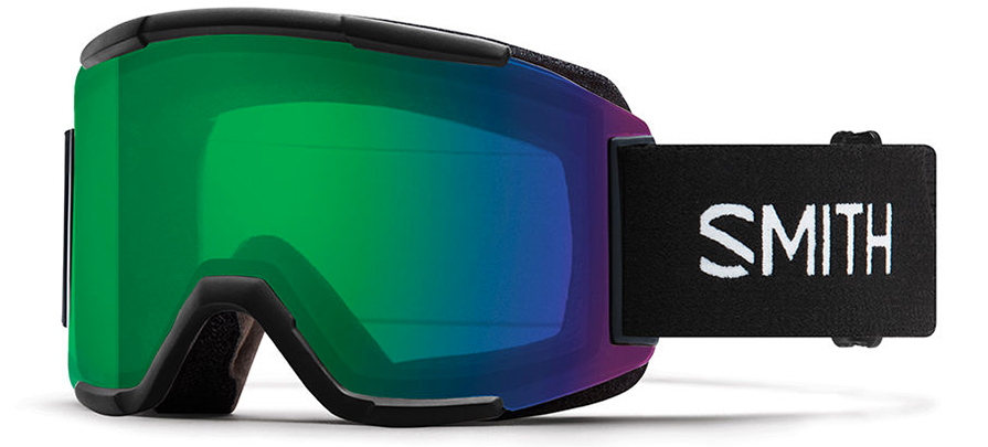 Smith	Squad Black ChromaPop Everyday Green Snow Goggles in listing close up