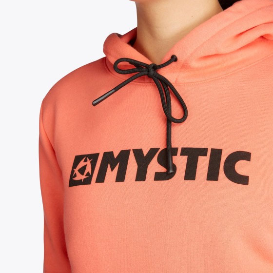 Mystic Brand Hoodie Faded Coral Neck Detail