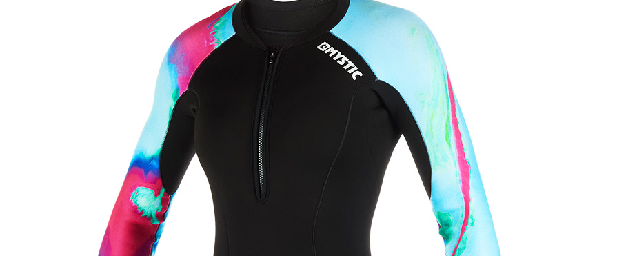 Mystic Diva Aurora 2/2mm Longarm Shorty FZ Womens Wetsuit Cropped