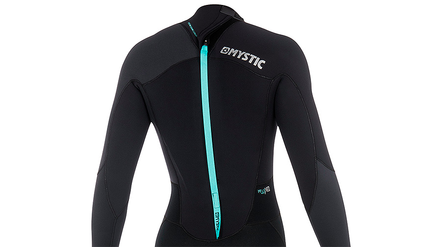 Mystic Star 3/2mm Womens Summer Wetsuit Black Grey Back Zip Details