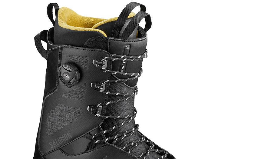Salomon Launch Lace SJ Black Mens Snowboard Boots ATBShop