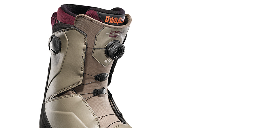 Thirty Two	Lashed Double Boa Bradshaw Olive Black Mens Snowboard Boots close up in listing