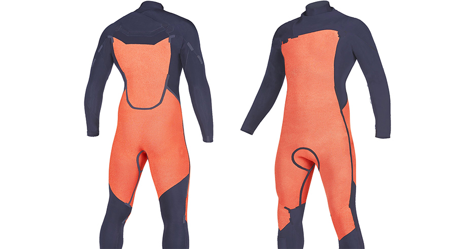Mystic Marshall 5/3mm Navy Lime FZ Mens Winter Wetsuit inside foxfleece close up listing