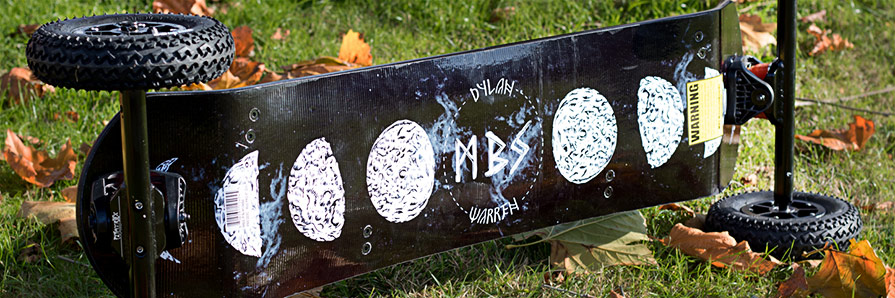 MBS Pro 97 Mountainboard Pro Model Dylan Warren Base Detail and Graphics