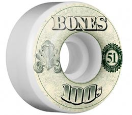 Bones OG Wheels 100's V4 in White 53mm