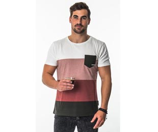 Mystic Meridian Tee in Apple Red