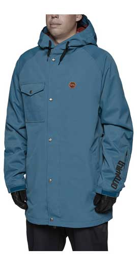 Thrity Two Knox Mens Snowboard Jacket in Blue