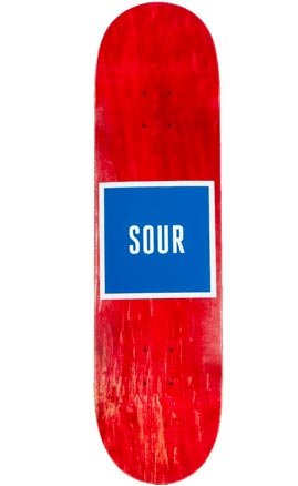 Sour Skateboards Red Army Logo Deck 8.125