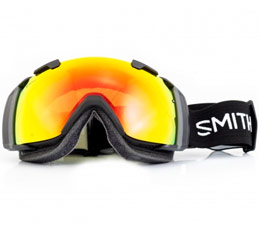 Smith I/O Snowboard Goggles Black Red SolX