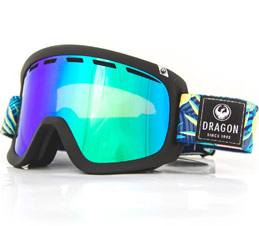 Dragon D1 OTG Aloha Lumalens Green Ion Snow Goggles