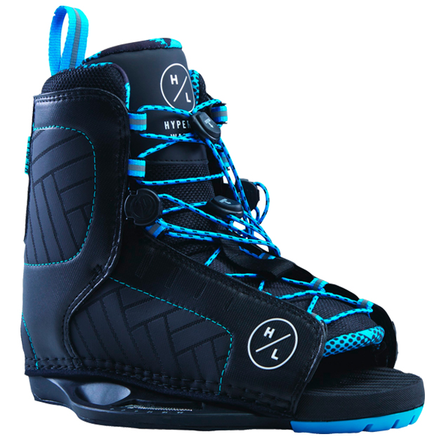 Hyperlite Remix Open Toe Wakeboard Bindings Black Blue