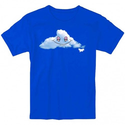 Thank You Skateboards Head in the Clouds Tee Shirt Blue