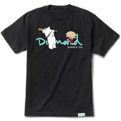 Diamond X Family Guy OG Script Tee in Black